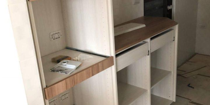 綠芯新竹室內設計系統櫃安裝